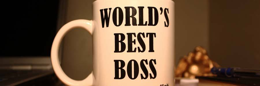 "mug with ""world's best boss"" written on it"