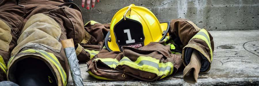 a firefighter on a break