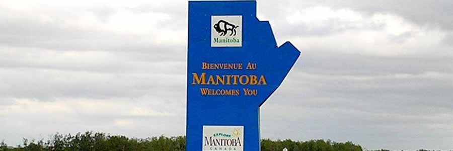 Bienvenue au Manitoba - Manitoba welcomes you sign