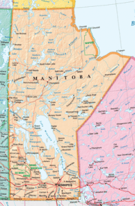 Map of Manitoba by Natural Resources Canada. CC-BY-SA