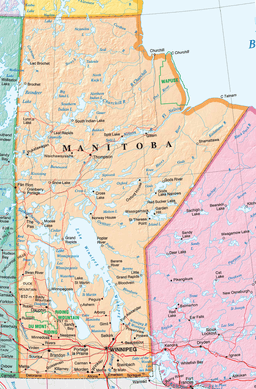 Manitoba Natural Resources Map