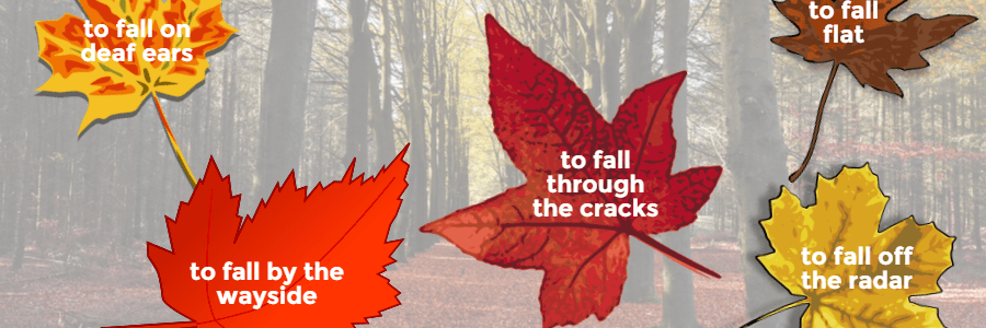 An illustration of orange, yellow and red maple leaves.