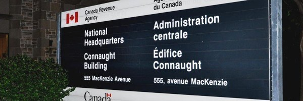 Canada Revenue Agency building sign