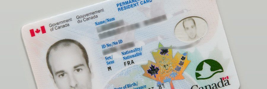 Image of a Permanent Resident Card from the Government of Canada