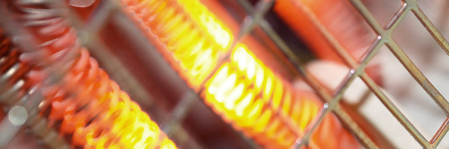 A close look at the inner-workings of a space heater.