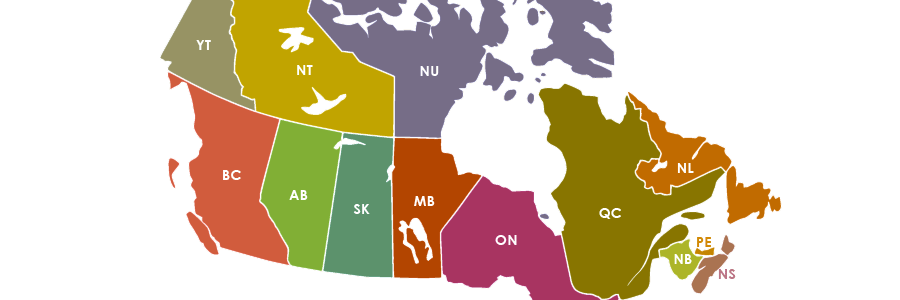 Canadian postal codes and abbreviations for provinces and