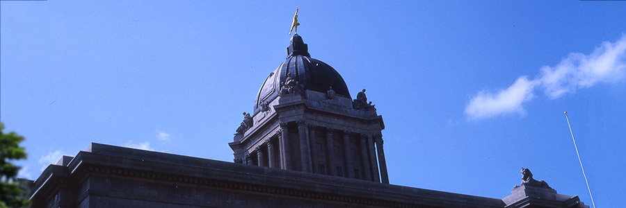Golden Boy on top of Manitoba Legislature