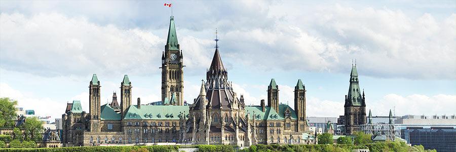 Parliament Hill in Ottawa, Ontario, Canada.