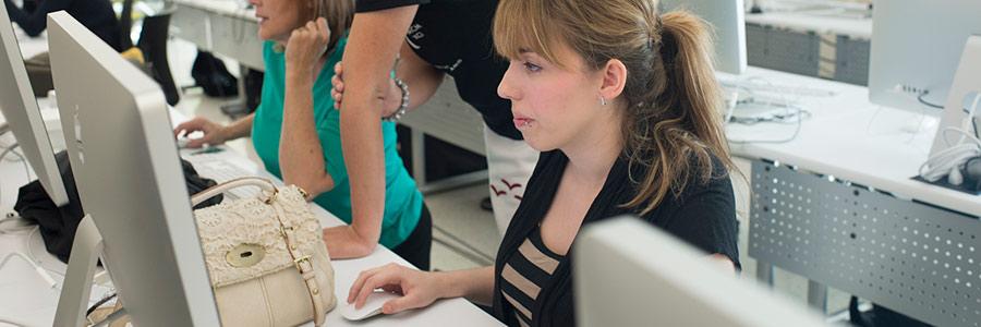 A university computer class.