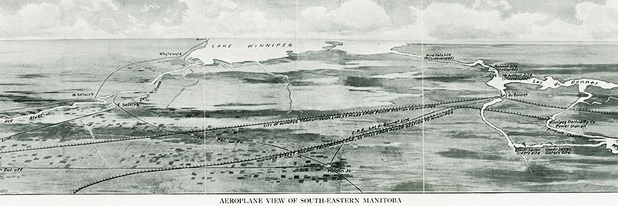 Aeroplane View of South-Eastern Manitoba (1914)