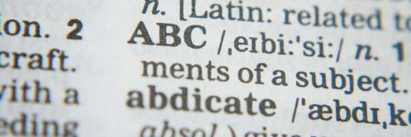 A close-up image of a dictionary page.