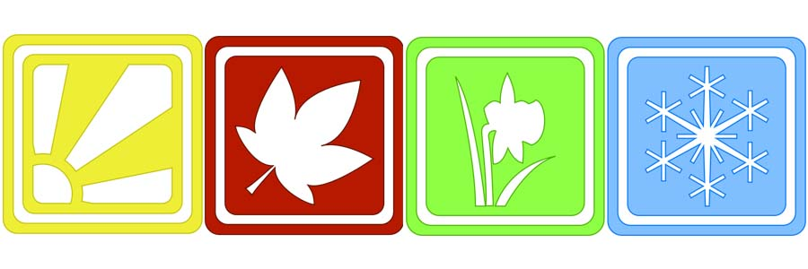 clip art icons of seasons