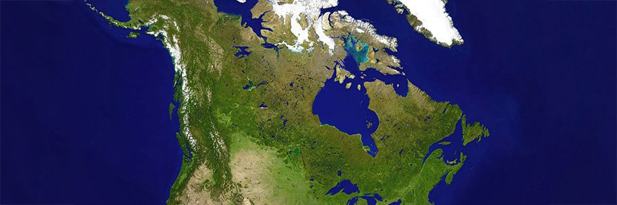 An image of Canada from space.