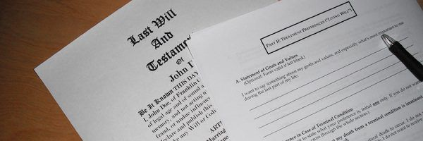 A generic Last Will and Testament and example of a Living Will.