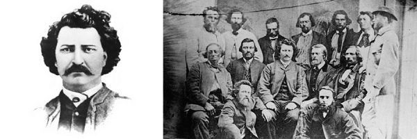 Louis Riel with Councillors of the Provisional Government of the Métis Nation.