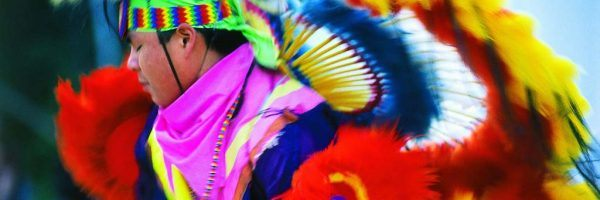 A traditional Indigenous dancer