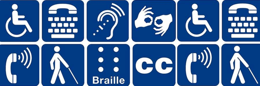 various pictograms of disability symbols