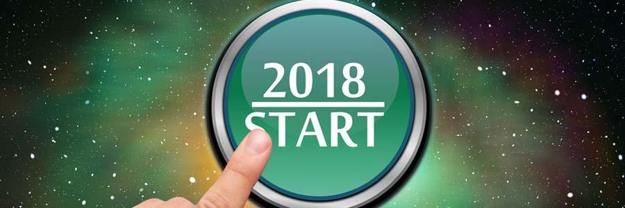 finger on 2018 Start button