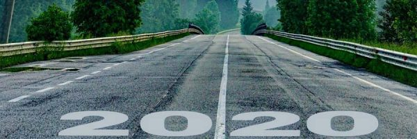 Road with 2020 as starting line