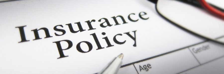 close up of insurance policy