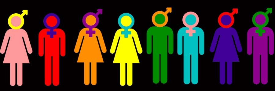 illustration of LGBTQ symbols