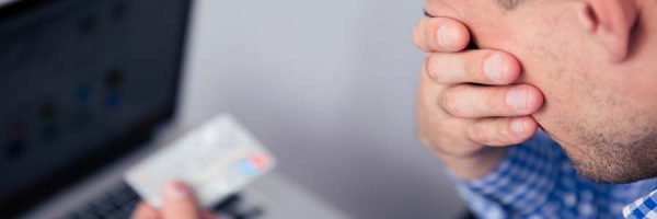 Man worried about credit card debt