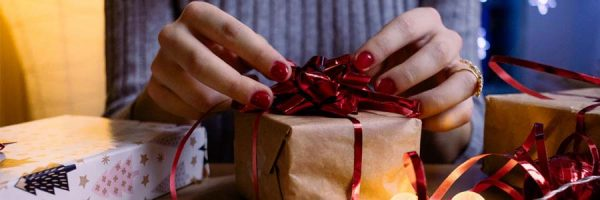 Wrapping up gifts for Christmas