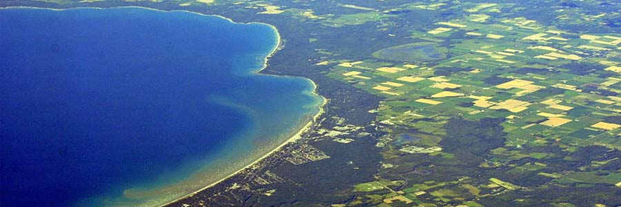 Aerial view of Wasaga Beach in Ontario