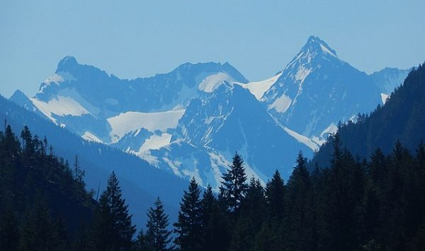 A view of Mount Logan from Diablo Lake