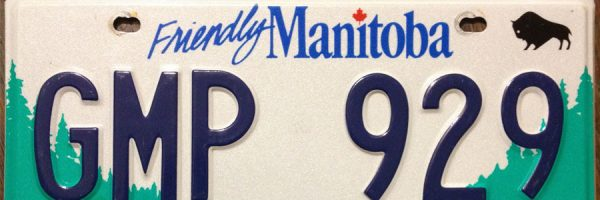 Friendly Manitoba plate close-up