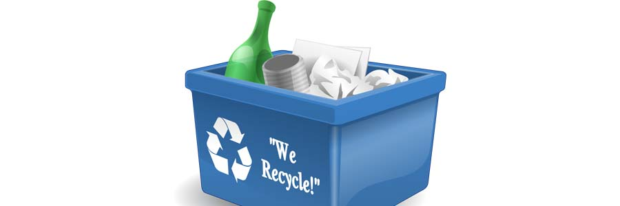 graphic of a recycling bin
