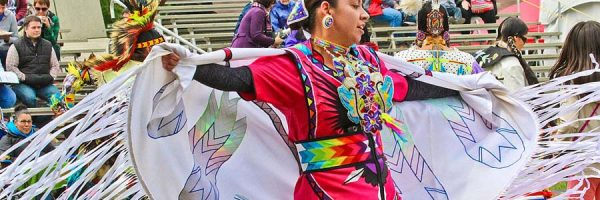 Pow wow dancer in Canada