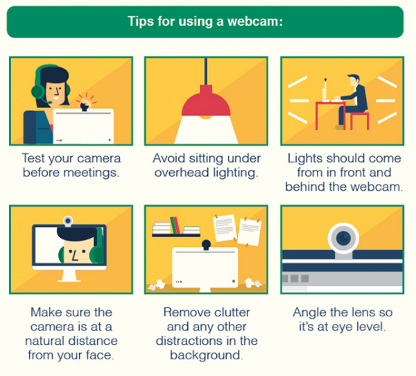 Tips for using a webcam graphic