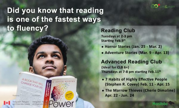 poster of reading club and advanced reading club