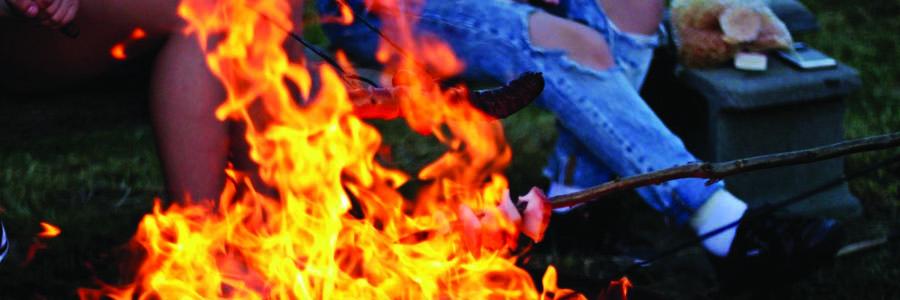 close-up shot of bonfire